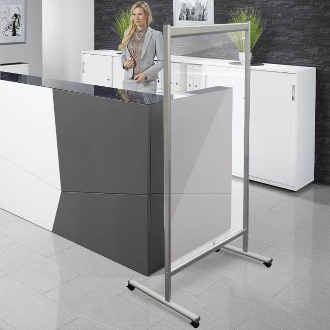 Mobile Hygieneschutzwand aus Acrylglas