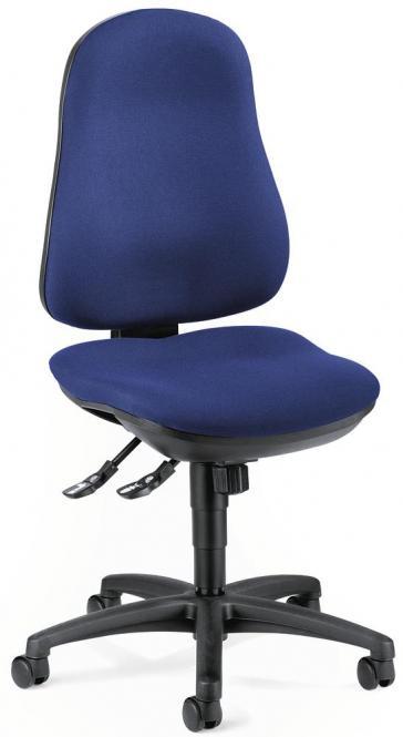 Bürodrehstuhl COMFORT I ohne Armlehnen Blau   ohne Armlehnen (optional)   Polyamid schwarz