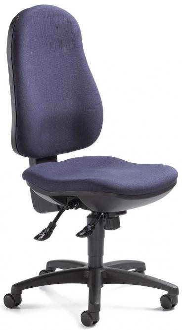 Bürodrehstuhl COMFORT I ohne Armlehnen Dunkelblau | ohne Armlehnen (optional) | Polyamid schwarz