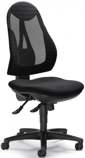 Bürodrehstuhl COMFORT NET PLUS ohne Armlehnen Schwarz