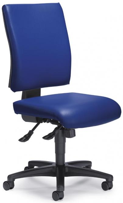 Bürodrehstuhl COMFORT R SOFTEX, abwaschbar Blau