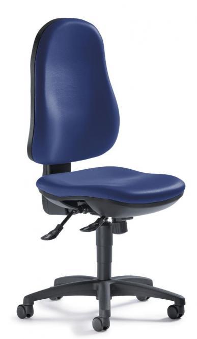 Bürodrehstuhl COMFORT S ohne Armlehnen Blau | ohne Armlehnen (optional)