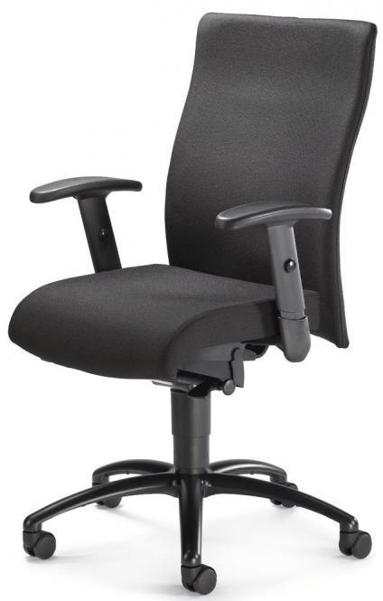 Bürodrehstuhl DV 35 inkl. Armlehnen, Fußkreuz schwarz