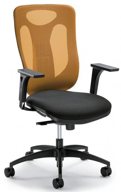 Bürodrehstuhl VENTURA ohne Armlehnen Orange/Schwarz
