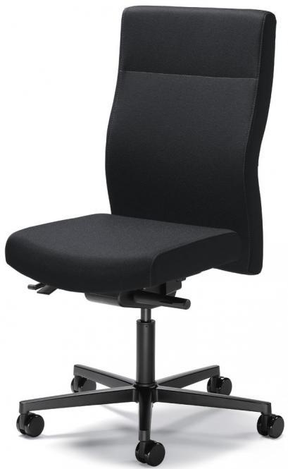 Bürodrehstuhl winSIT ohne Armlehnen Schwarz | Sitztiefenverstellung | Polyamid schwarz
