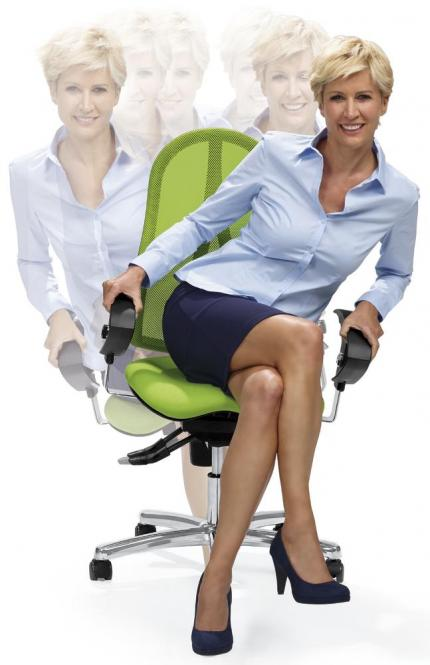 Bürodrehstuhl SITNESS 40 NET inkl. Armlehnen Grün