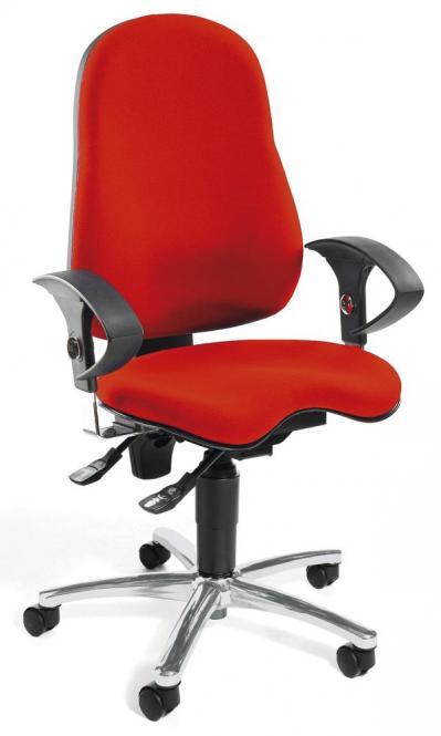 Bürodrehstuhl SITNESS 40 inkl. Armlehnen Rot