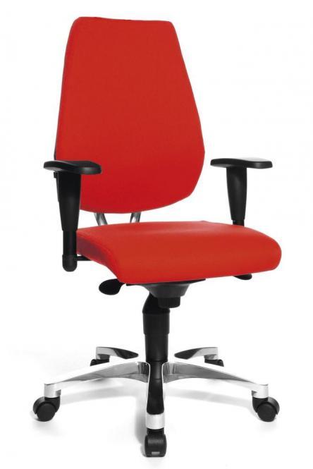 Bürodrehstuhl SITNESS 50 mit Armlehnen Rot