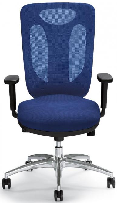 Bürodrehstuhl SITNESS 80 NET inkl. Armlehnen Blau/Schwarz