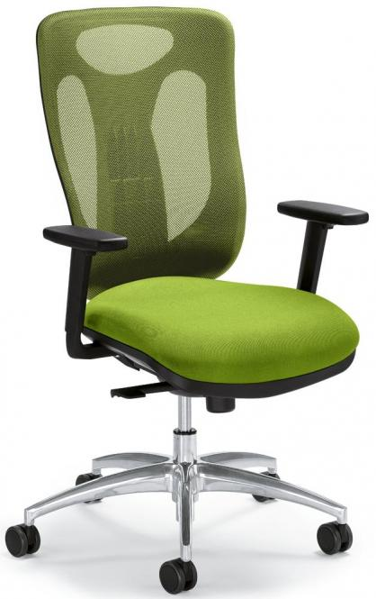 Bürodrehstuhl SITNESS 80 NET inkl. Armlehnen Grün