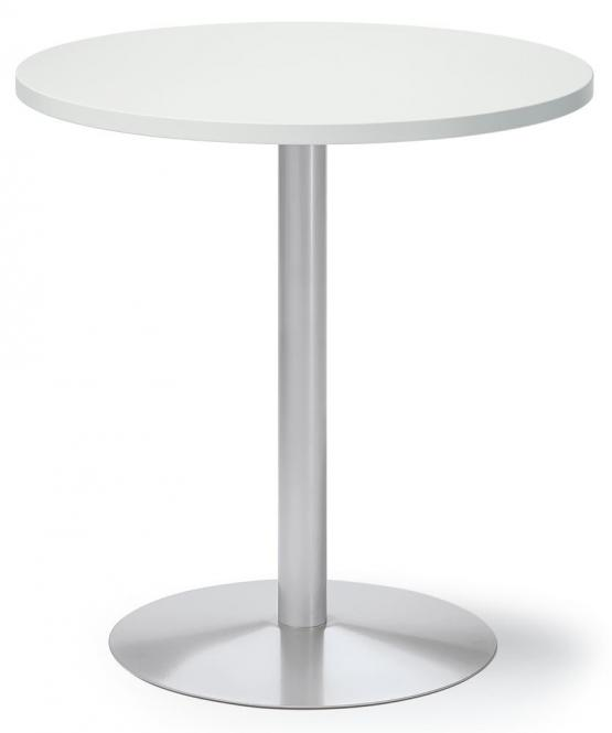 Besprechungs- und Konferenztisch MODUL Weiß | Alusilber RAL 9006 | 700