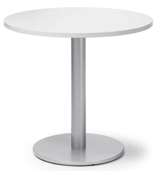 Besprechungs- und Konferenztisch MODUL Weiß | Alusilber RAL 9006 | 800