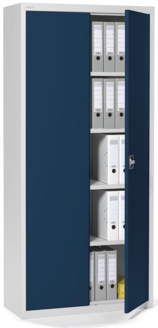 Top Angebot, Stahlschrank mit Flügeltüren Stahlblau RAL 5011
