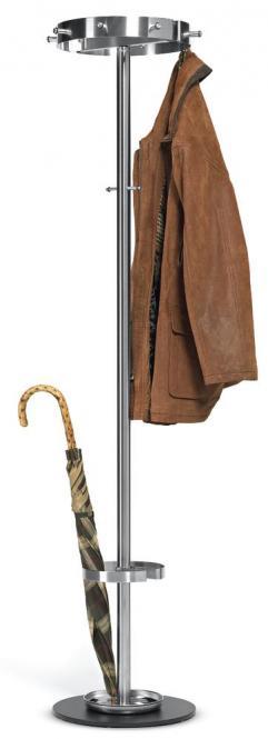 Edelstahl-Garderobenständer CROWN - sehr standfest
