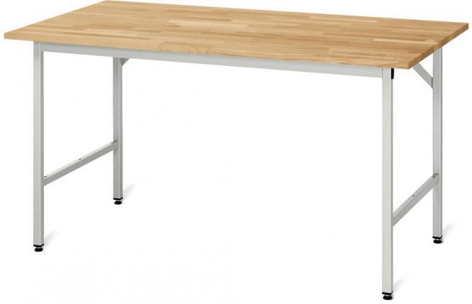 Arbeitstisch SYSTEM VK3060, Tischgestell 1 2000 | 800 | Grundtisch | Buche-Massiv-Arbeitsplatte