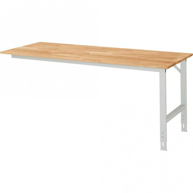 Arbeitstisch SYSTEM VK3060, Tischgestell 1 1250 | 800 | Anbautisch | Buche-Massiv-Arbeitsplatte