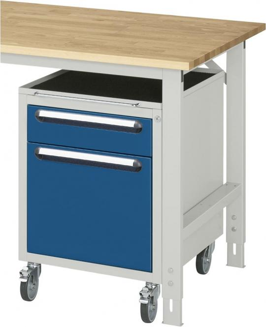 Roll-Unterbau-Container, für SYSTEM VK3060 Lichtgrau RAL 7035   690   Ja   2