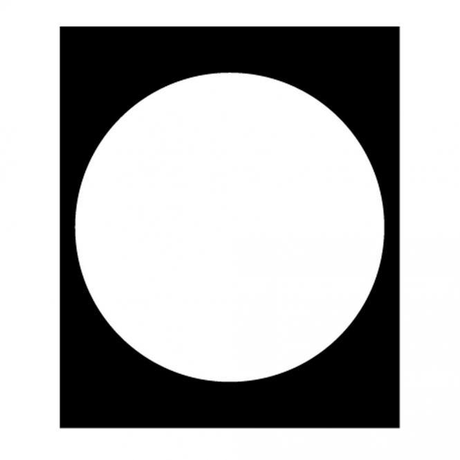 Bodenschutzmatte für Hartböden Transparent | Form R - Ø 600 mm | für Hartböden, ohne Noppen