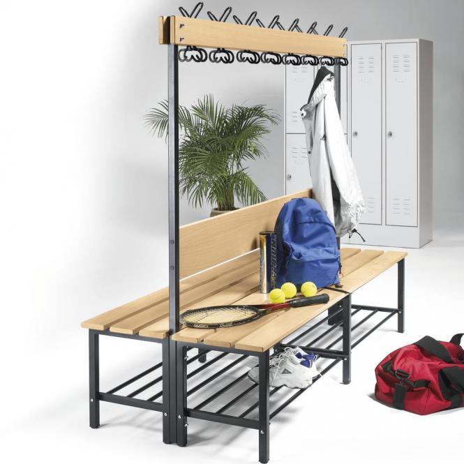Sitz- und Garderobenbänke mit Buchenholzleisten