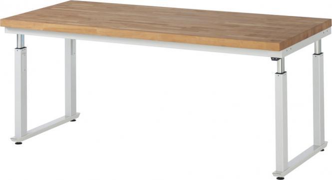 Werkbank SERIE E6 - Flächenlast bis zu 600 kg 2000 | 900 | Buche-Massiv-Arbeitsplatte | 600