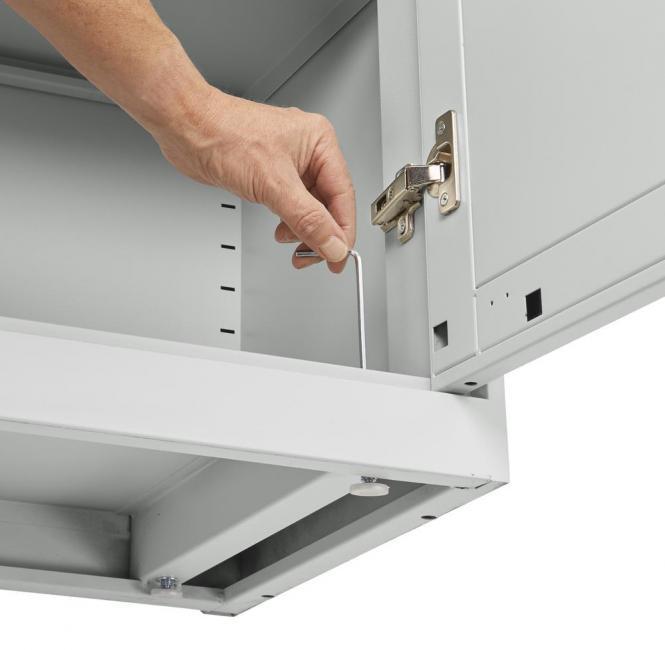 Flügeltürenschrank DELTAFLEXX Lichtgrau   837   800   Türen Stahl