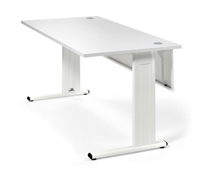 Schreibtisch Basic M MULTI MODUL Weiß   800   Weiß RAL 9010