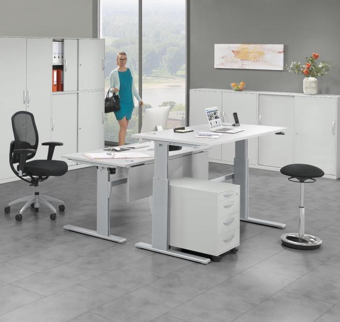 Sitz-/Stehschreibtische BASIC DELTAFLEXX H 725-1140 mm