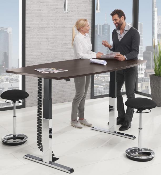 Sitz-/ Stehbesprechungstisch - stufenlos höhenverstellbar