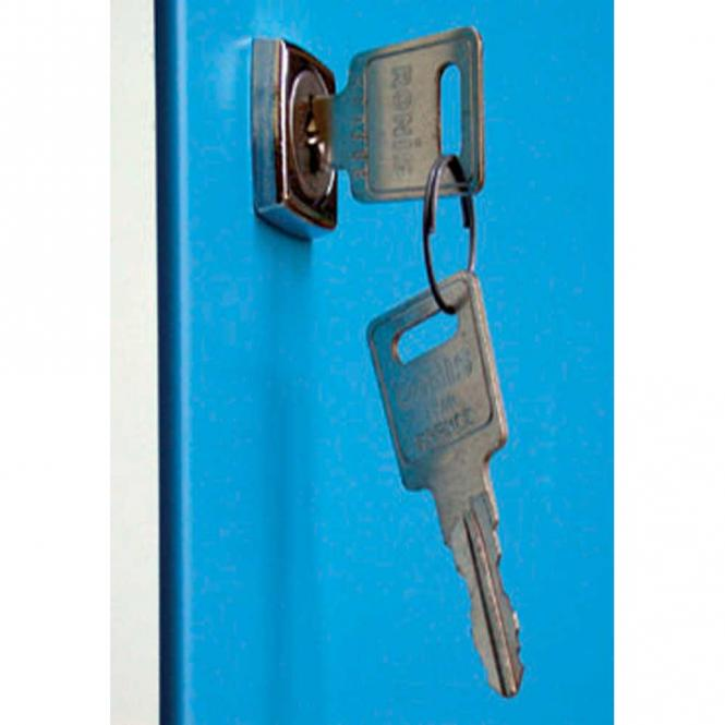 Sicherheits-Zylinderschloss mit 2 Schlüsseln