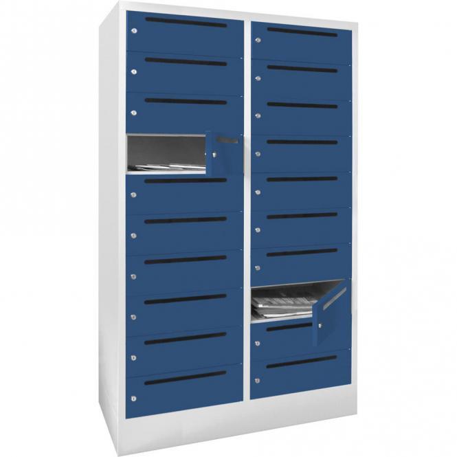 Postverteilerschrank Enzianblau RAL 5010 | 400 | 20