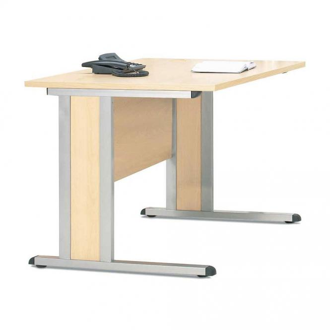 Schreibtisch Basic MULTI MODUL Ahorndekor   1800   Alusilber RAL 9006