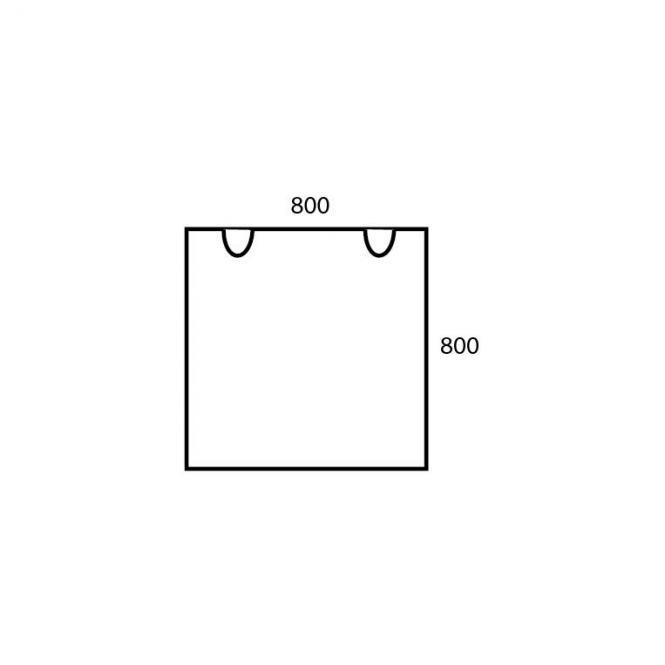 Schreibtischplatte Quadrat PROFI MODUL Buchedekor | 800 | Schreibtischplatte