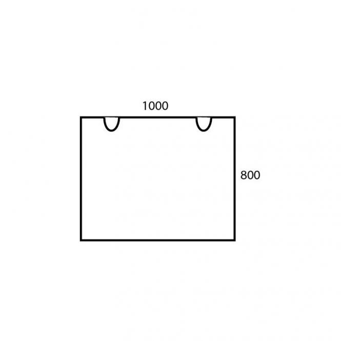 Schreibtischplatte Rechteck PROFI MODUL Lichtgrau | 1000 | Schreibtischplatte