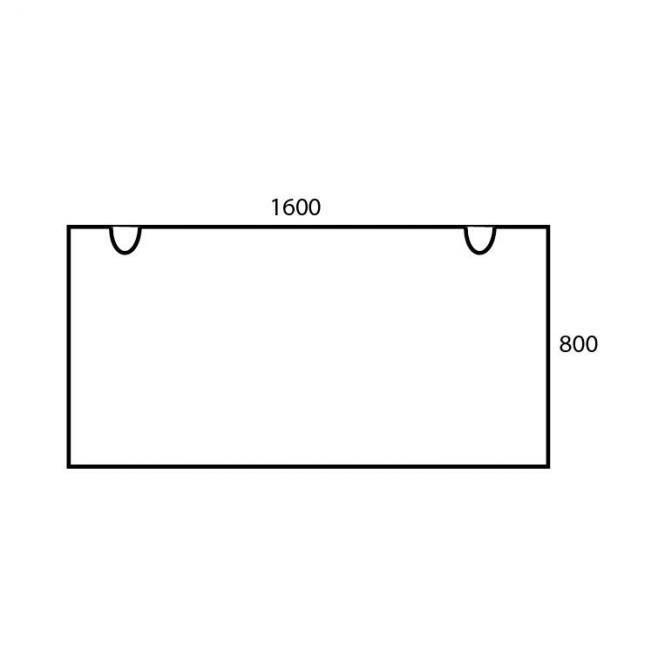 Schreibtischplatte Rechteck PROFI MODUL Buchedekor | 1600 | Schreibtischplatte