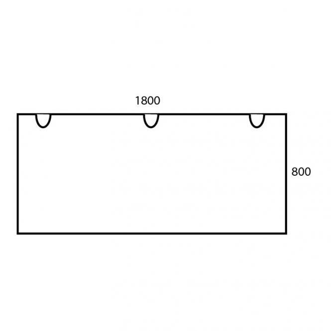 Schreibtischplatte Rechteck PROFI MODUL Ahorndekor | 1800 | Schreibtischplatte