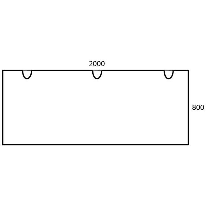 Schreibtischplatte Rechteck PROFI Bicolour Nussdekor | 2000 | Schreibtischplatte