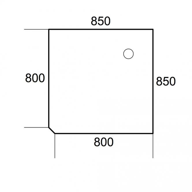 Verkettungsplatte 90° Quadrat PROFI MODUL Buchedekor | 850 | 90° Quadrat