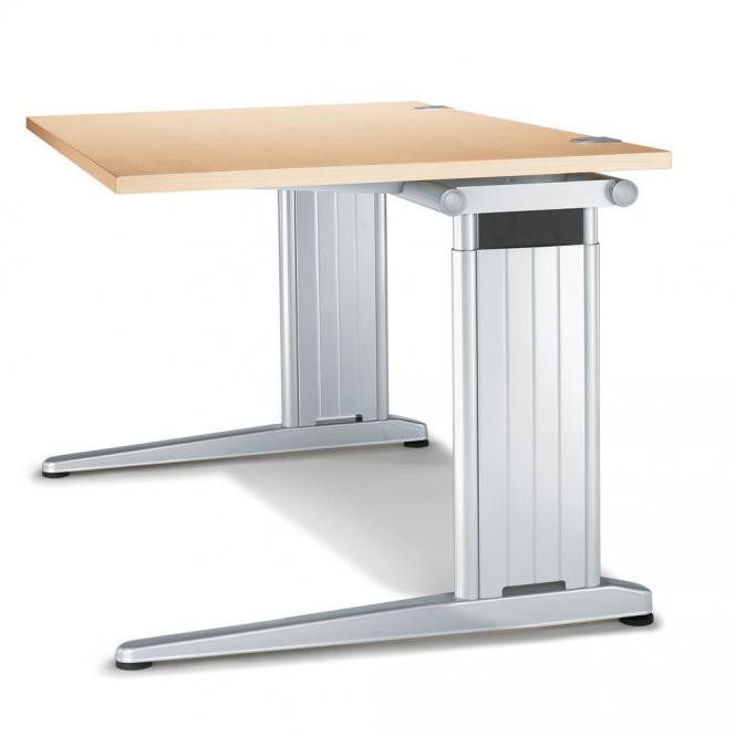 Schreibtisch C-Fuß PROFI MODUL Ahorndekor | 800 | Quadrat