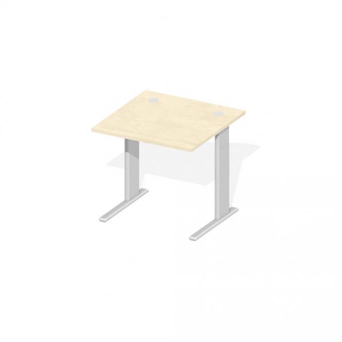 Schreibtisch Comfort M MULTI MODUL Ahorndekor | 800 | Alusilber RAL 9006