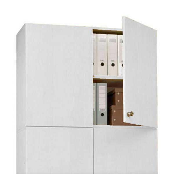 Aufsatz-Flügeltürenschrank PROFI MODUL Schrankwand Lichtgrau | 1000 | Aufsatzelement | 750 mm(2 OH)