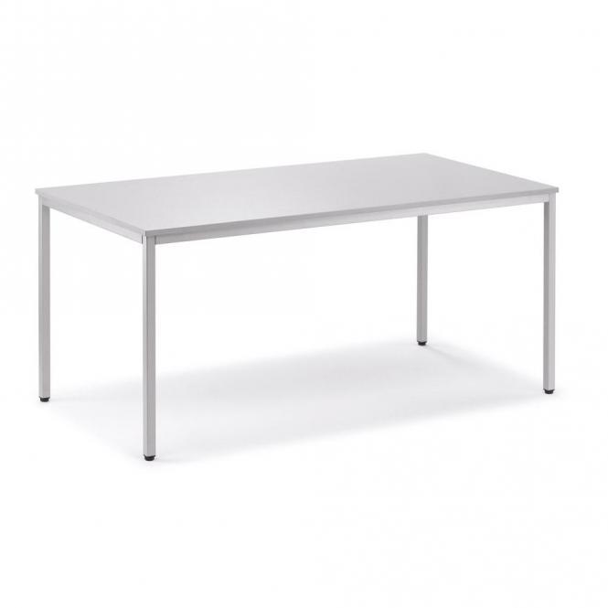 Schreibtisch BASE LINE Lichtgrau | 800 | Alusilber RAL 9006 | Quadrat
