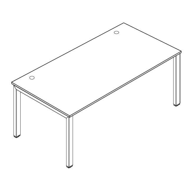 Schreibtisch 4-Fuß Comfort MULTI MODUL Buchedekor | 800