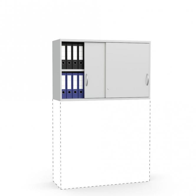 Schiebetüren-Aufsatzschrank PROFI MODUL Lichtgrau | 1200 | 750 mm (2 OH)