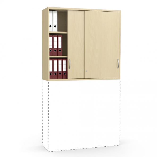 Schiebetüren-Aufsatzschrank PROFI MODUL Buchedekor   1200   1110 mm (3 OH)