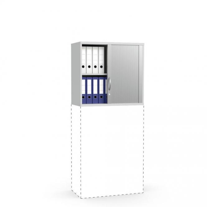 Rollladen-Aufsatzschrank PROFI MODUL Lichtgrau | 800 | 750 mm (2 OH)