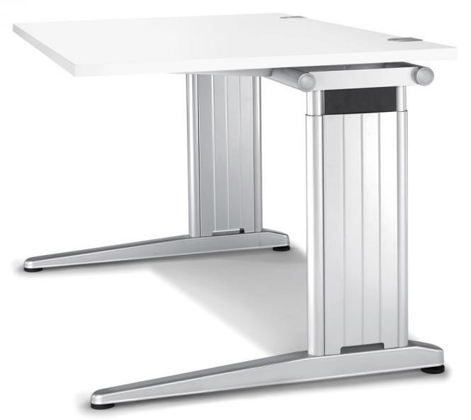 Schreibtisch C-Fuß PROFI MODUL Weiß | 800 | Quadrat