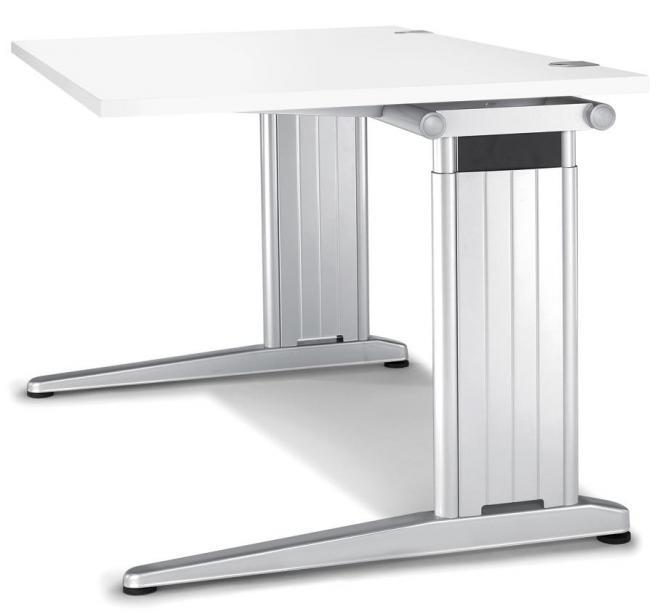 Schreibtisch C-Fuß PROFI MODUL Weiß | 1600