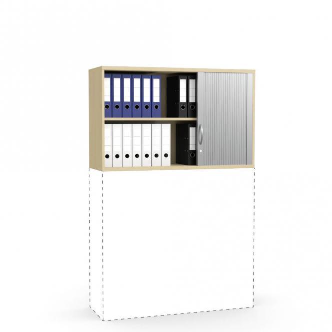 Rollladen-Aufsatzschrank PROFI MODUL Buchedekor | 1200 | 750 mm (2 OH)