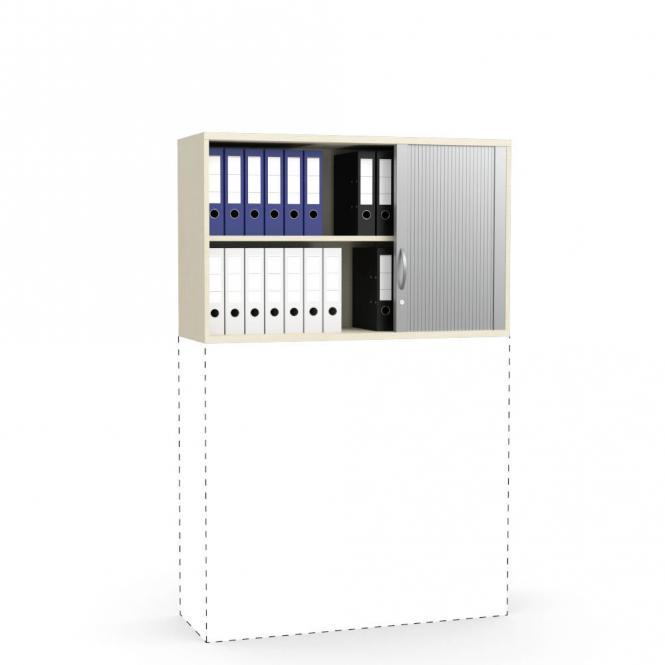 Rollladen-Aufsatzschrank PROFI MODUL Ahorndekor | 1200 | 750 mm (2 OH)