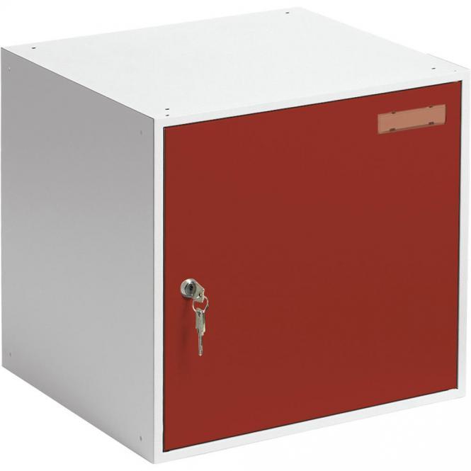 Schließfachwürfel SYSTEM SP Feuerrot RAL 3000 | B 450 x H 450 x T 450 mm